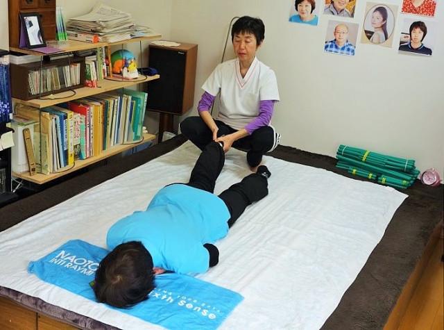施術例1下肢の牽引